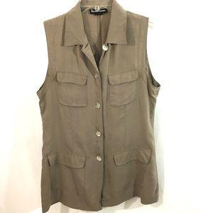 Firm - Daniel Caron Silk Ribbed Shirt Vest MED